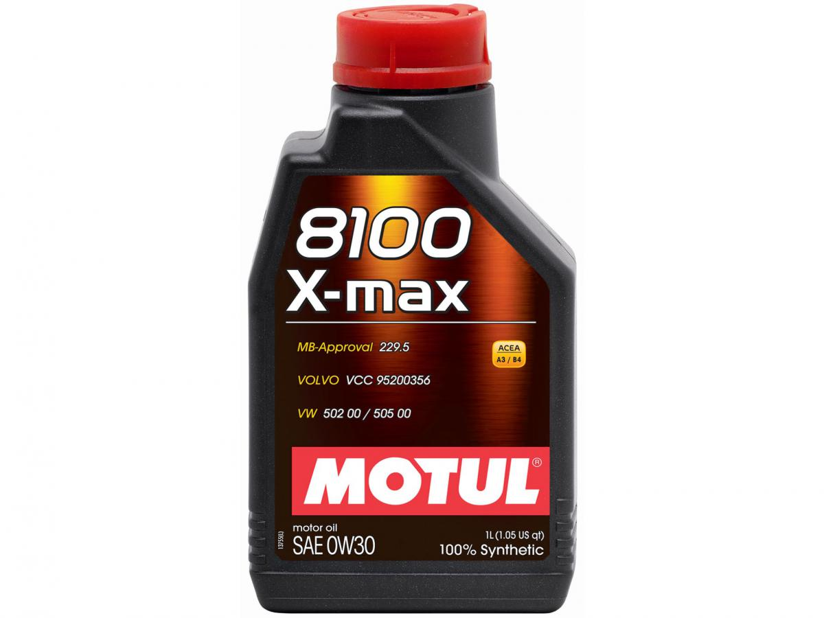 MOTUL Моторное масло 8100 X-max SAE 0w30 1л Full-synthetic