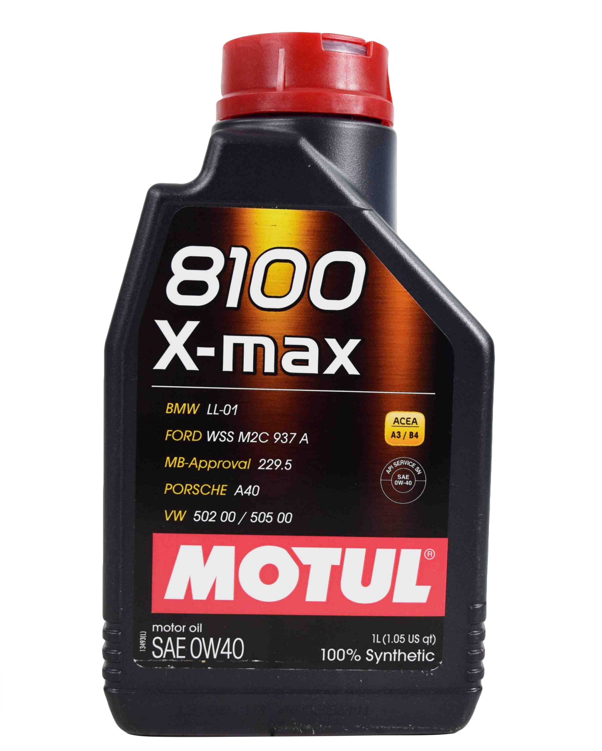 MOTUL Моторное масло 8100 X-max SAE 0w40 1л Full-synthetic