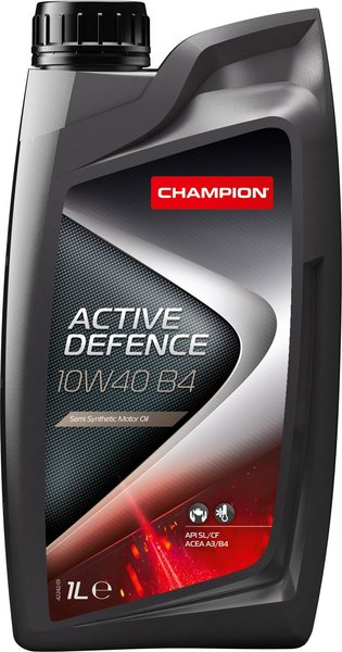 CHAMPION Моторное масло Active Defence B4 SAE 10w40 1л Semi-synthetic