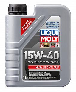 LIQUI MOLY Моторное масло MoS2 Leichtlauf SAE 15w40 1л Mineral oil
