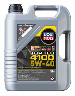 LIQUI MOLY Моторное масло Top Tec 4100 SAE 5w40 5л Full-synthetic
