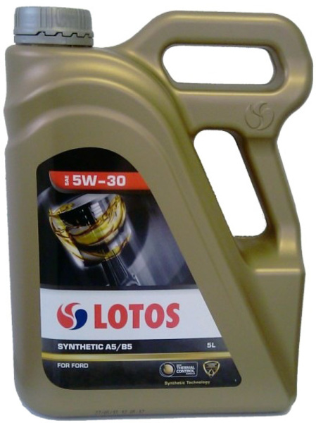 LOTOS Моторное масло Synthetic A5B5 SAE 5w30 5л Full-synthetic