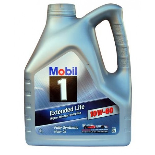 MOBIL 1 Моторное масло Extended Life SAE 10w60 4л Full-synthetic