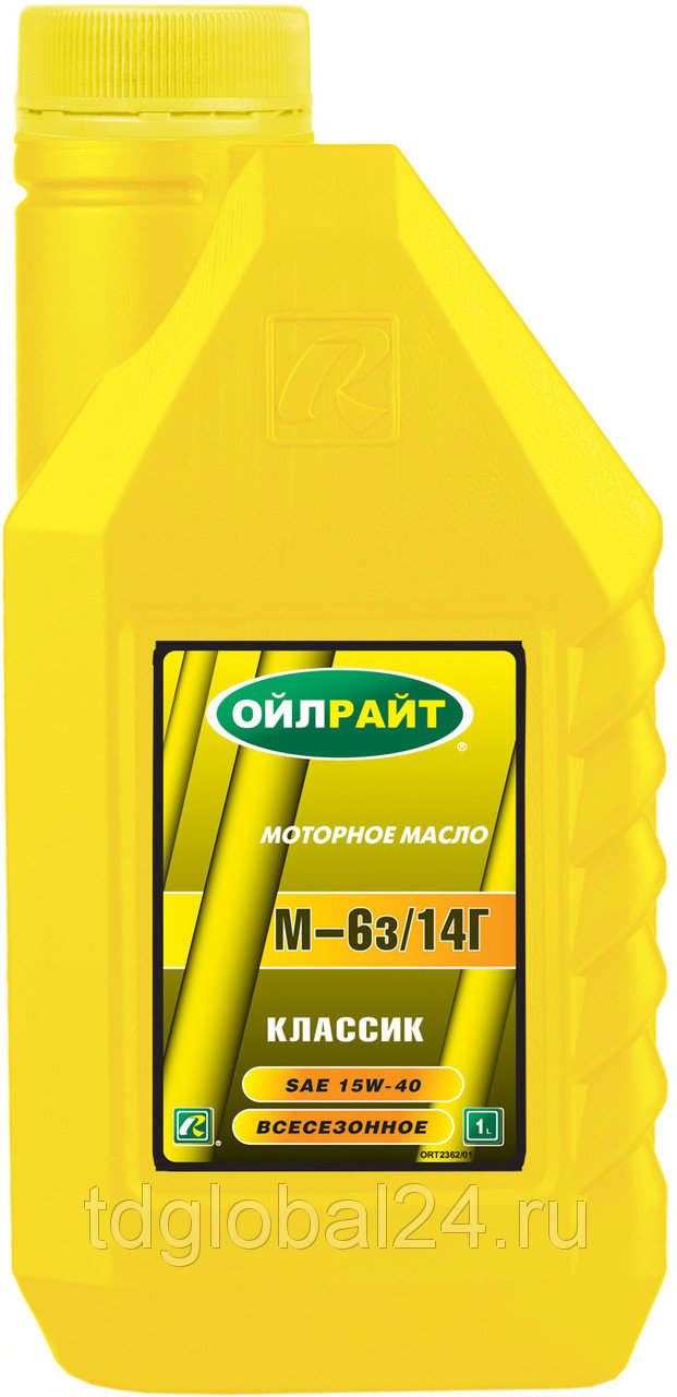 OIL RIGHT Моторное масло М6з-14Г 1л Mineral oil