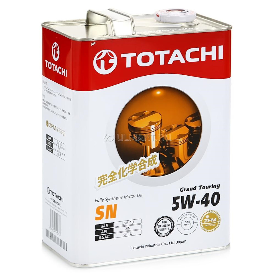TOTACHI Моторное масло Grand Touring SAE 5w40 4л Full-synthetic