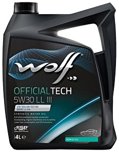 WOLF Моторное масло Official Tech LL III SAE 5w30 4л Full-synthetic