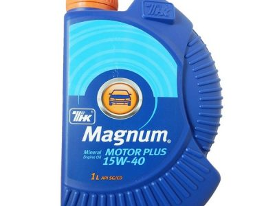 ТНК Моторное масло Magnum Motor Plus SAE 15w40 1л Mineral oil
