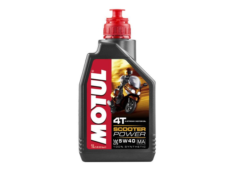 MOTUL Масло для мототехники Scooter Power 4T SAE 5w40 1л Full-synthetic