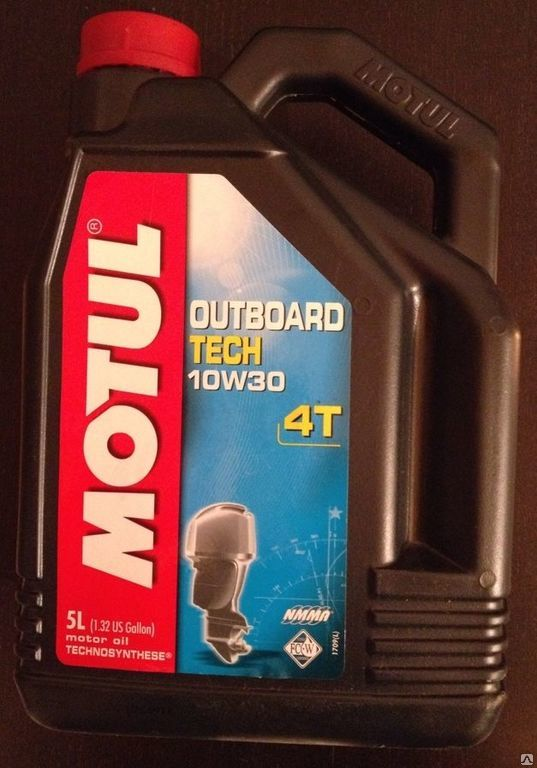 MOTUL Масло для мототехники Outboard TECH 4T SAE 10w30 5л Semi-synthetic