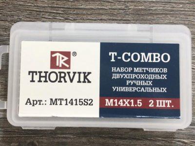 THORVIK Набор метчиков T-COMBO двухпроходных ручных универсальных М14х1.5, HSS-G, 2 шт.