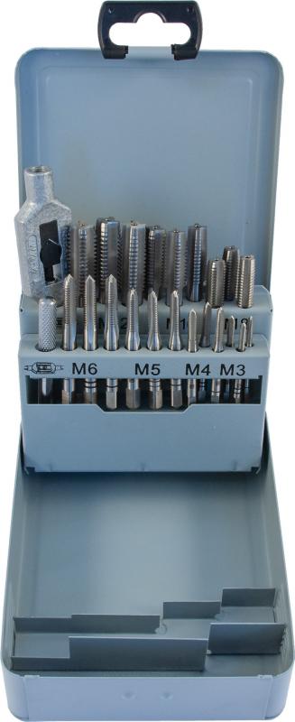 THORVIK Набор метчиков T-COMBO трехпроходных ручных универсальных М3-М12, HSS-G, 22 предмета