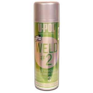 U-POL WELD #2 Грунт провариваемый с цинком д/сварки (аэрозоль), 0,45л