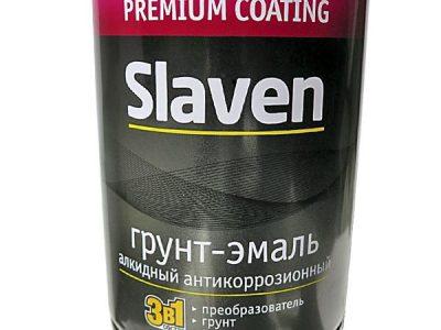 SLAVEN Грунт-эмаль 3 в 1 зеленый лист 1,1л