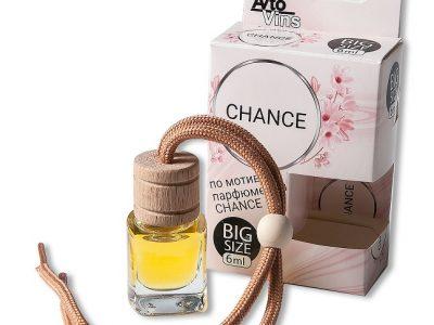 A2DM Ароматизатор подвесной СТЕКЛЯННЫЙ флакон 6мл по мотивам элитного парфюма Perfume — CHANCE