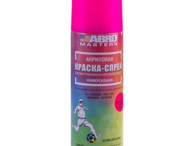 ABRO Masters Автоэмаль флуоресцентная Розовая, 0,4л