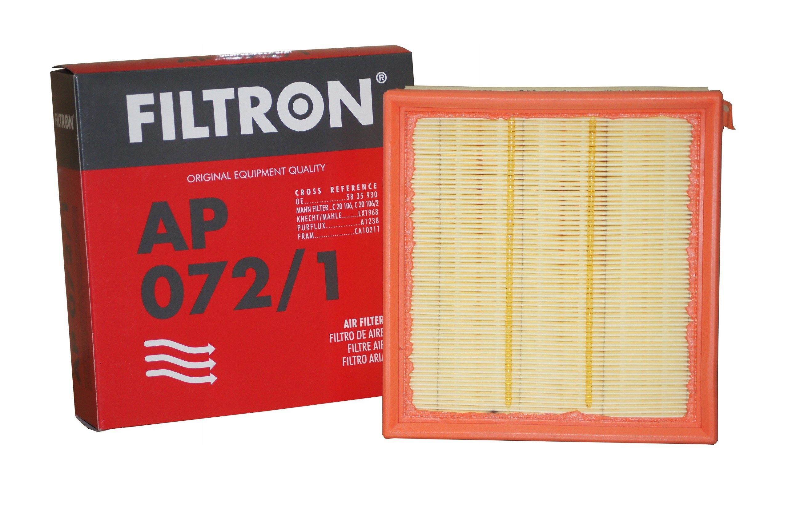 FILTRON Фильтр воздушный AP 072/1