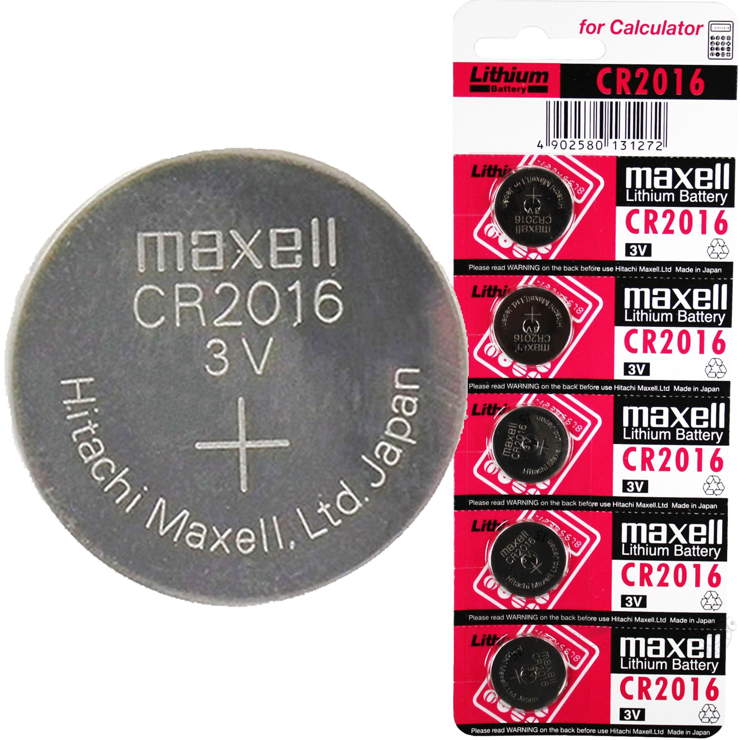 MAXELL Батарейка Lithium CR2016-BC5 таблетка 3V