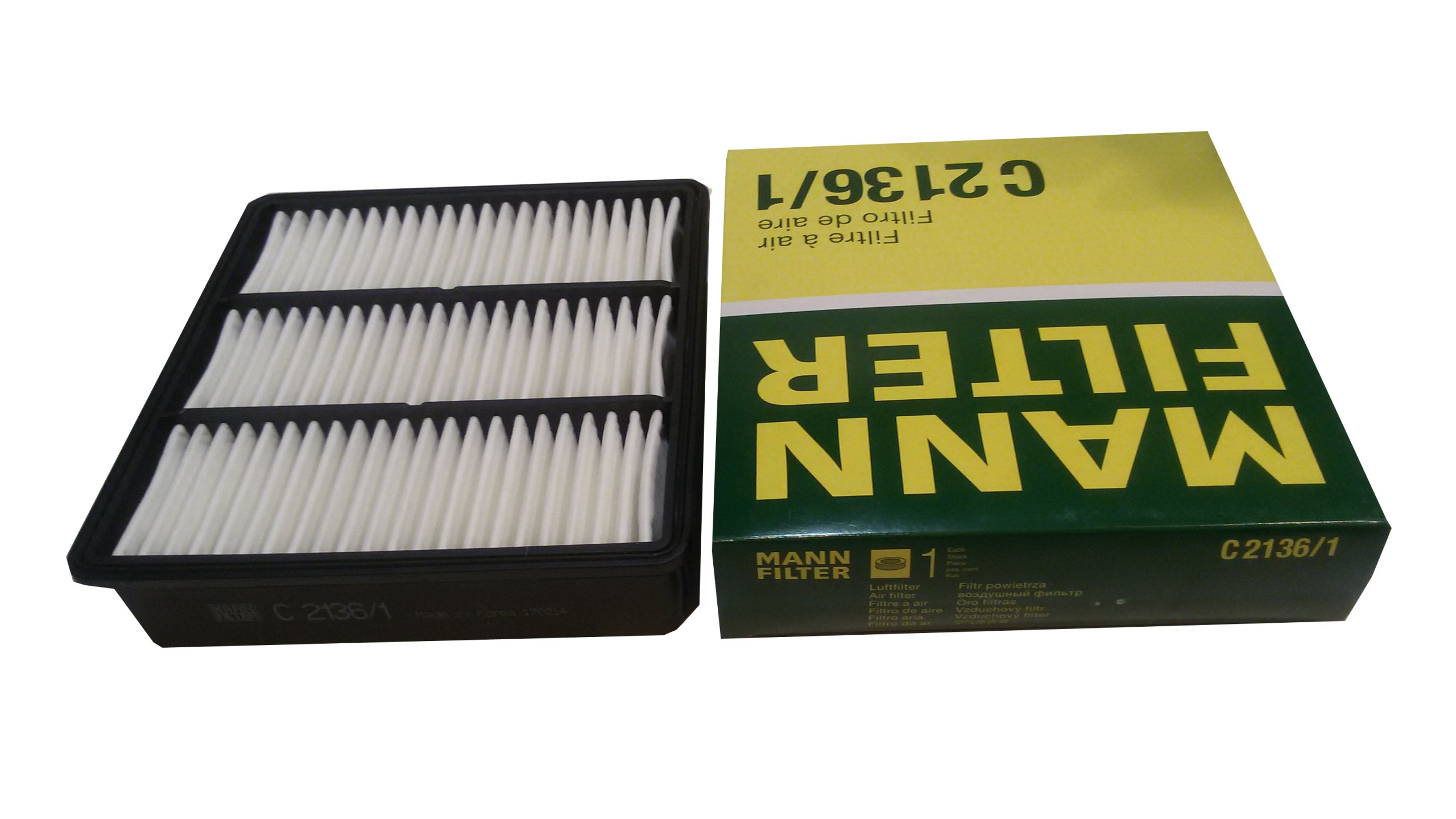 MANN Воздушный фильтр C 2136/1