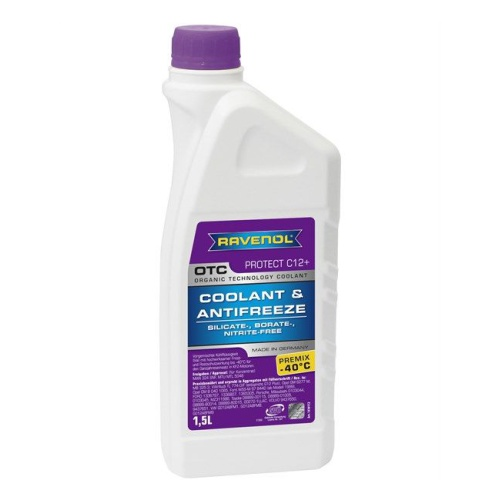 RAVENOL Антифриз Premix OTC Organic Technology Coolant -40С G12 красный 1,5л