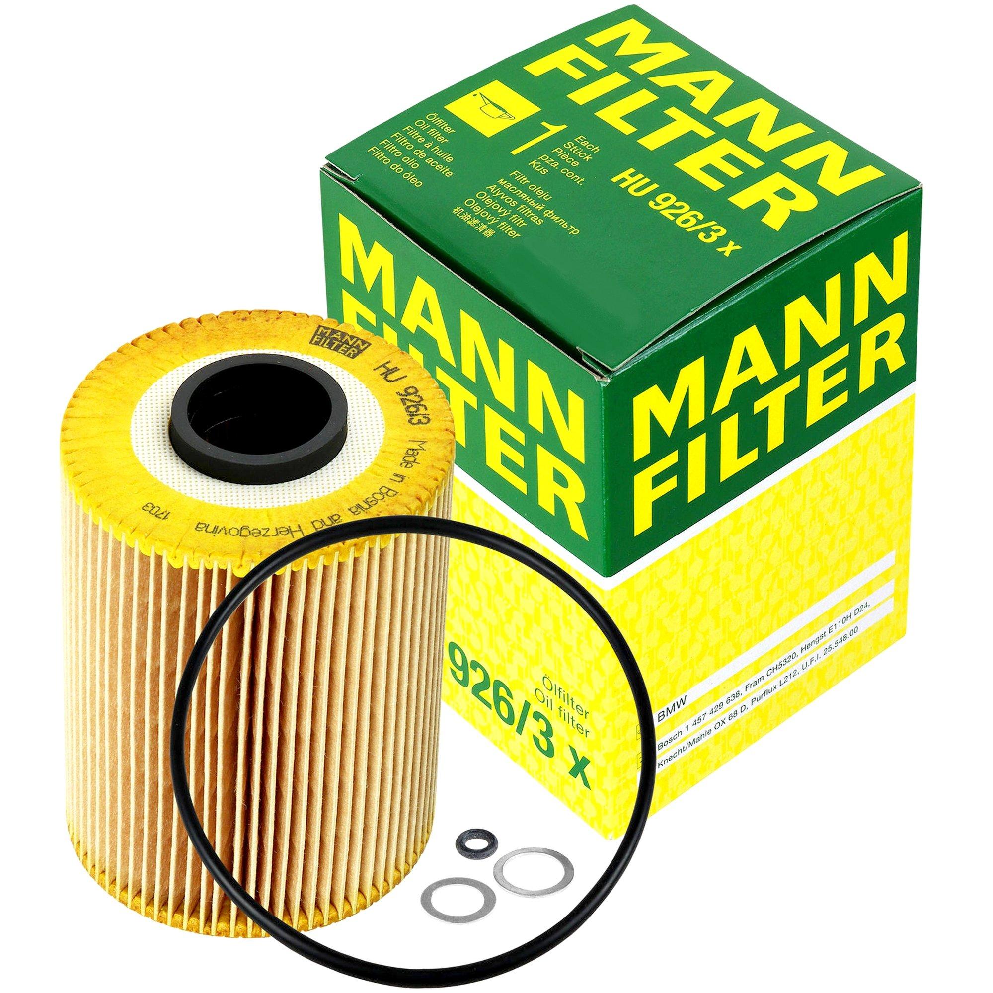 MANN Фильтр масляный HU 926/3 x