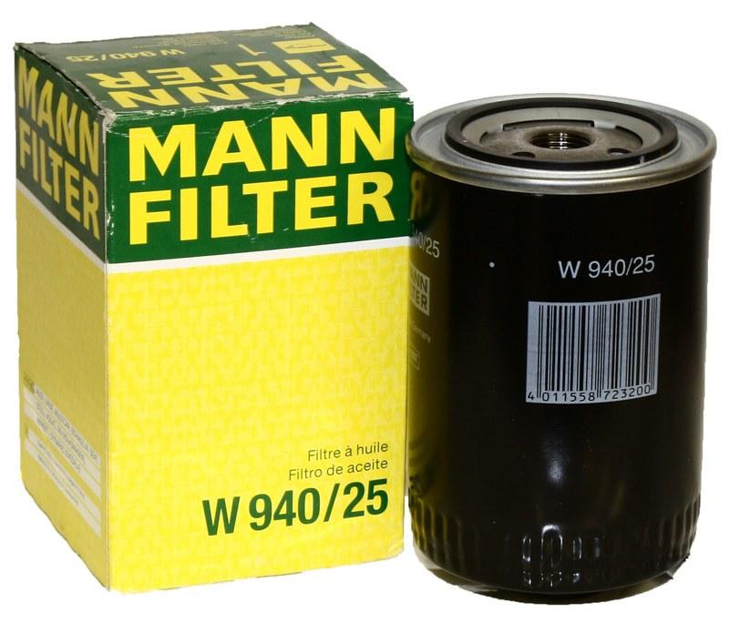 MANN Фильтр масляный W 940/25
