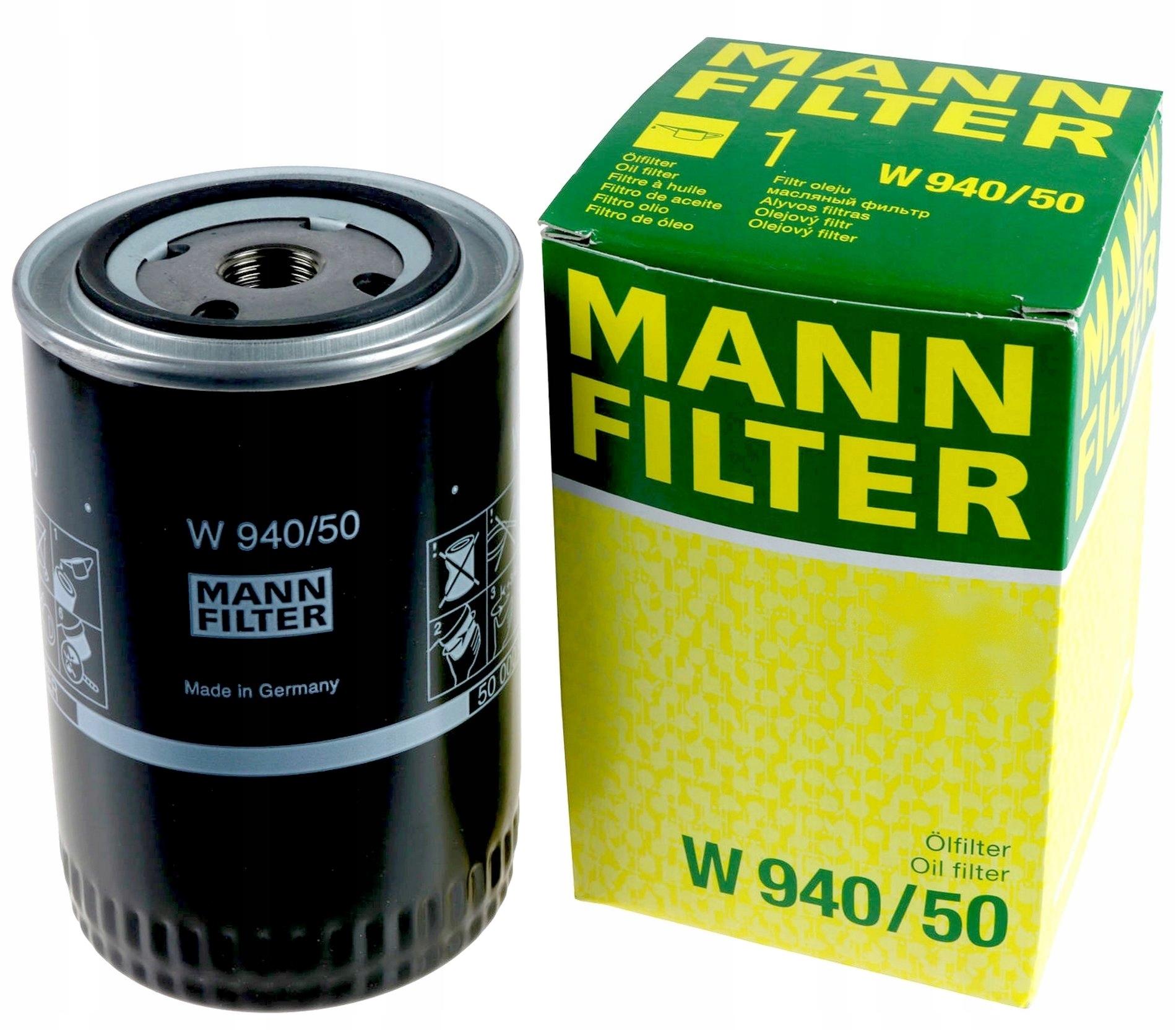 MANN Фильтр масляный W 940/50