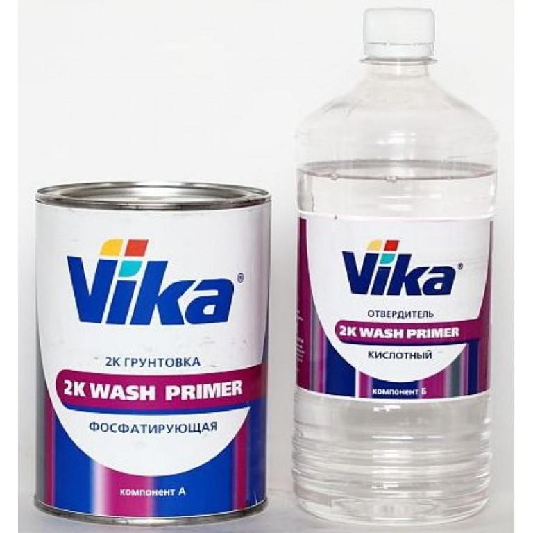 VIKA Грунтовка фосфатирующая Wash Primer ВЛ-02 0,8л + отвердитель кислотный 0,67л