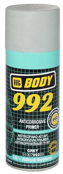 HB BODY Грунт антикоррозийный 992 Серый, 0,4л