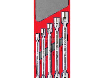 МАСТАК Набор шарнирных ключей, зеркальная полировка, ложемент, 5 предметов