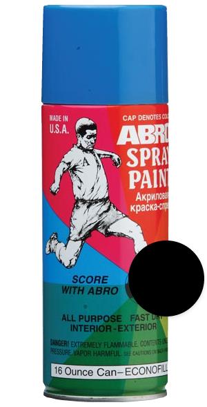 ABRO Автоэмаль Черная глянцевая, 0,4л