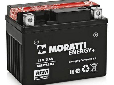 MORATTII Аккумуляторная батарея сухозаряженная MF AGM 3 A/h обратная полярность болт