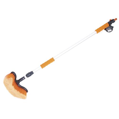 АВТОСТОП Щетка для мытья телескопическая с мягкой ручкой и клапаном регулировки воды 100-168 см