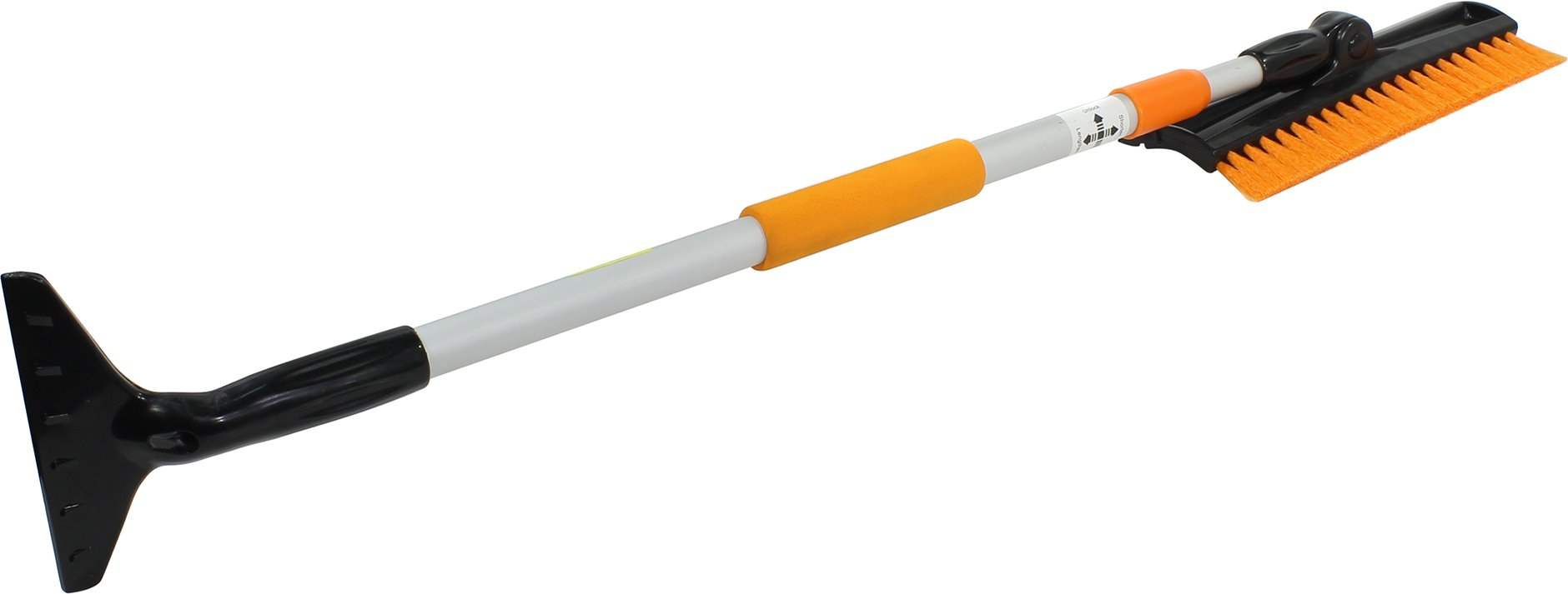 АВТОСТОП Щетка для удаления снега телескопическая со скребком и мягкой ручкой 78-125 см