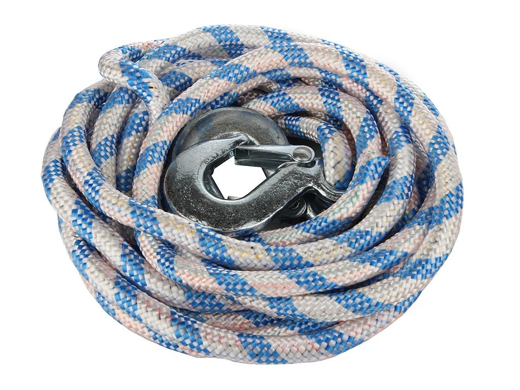 АВТОСТОП Трос буксировочный альпийский шнур, с крюками в чехле, 4500кг длина 4,8м
