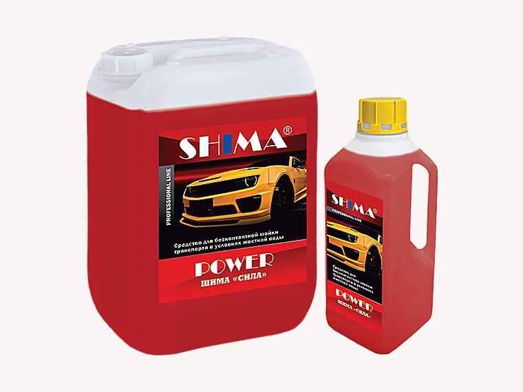 SHIMA POWER Профессиональное, среднещелочное ср-во бесконтактной мойки сильных загрязнений, 1л