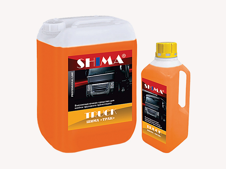 SHIMA TRUCK Профессиональное, высоко-щелочное моющее средство бесконтактной мойки, 5л