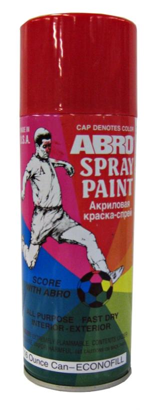 ABRO Автоэмаль Огненно-красная, 0,4л