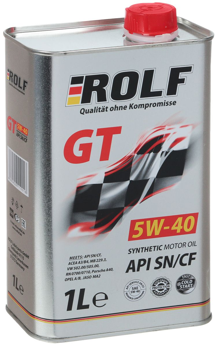 ROLF Моторное масло GT SAE 5w40 1л Full-synthetic
