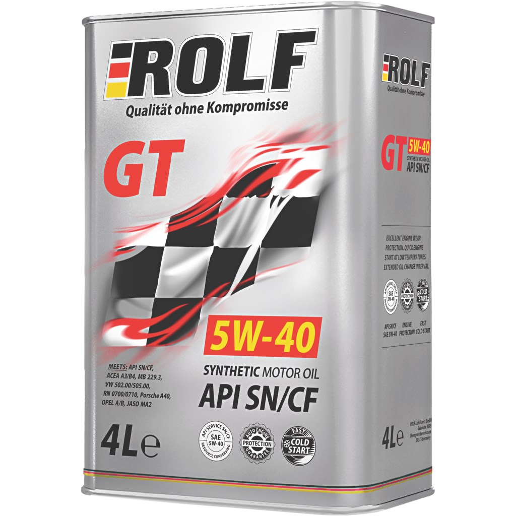 ROLF Моторное масло GT SAE 5w40 4л Full-synthetic