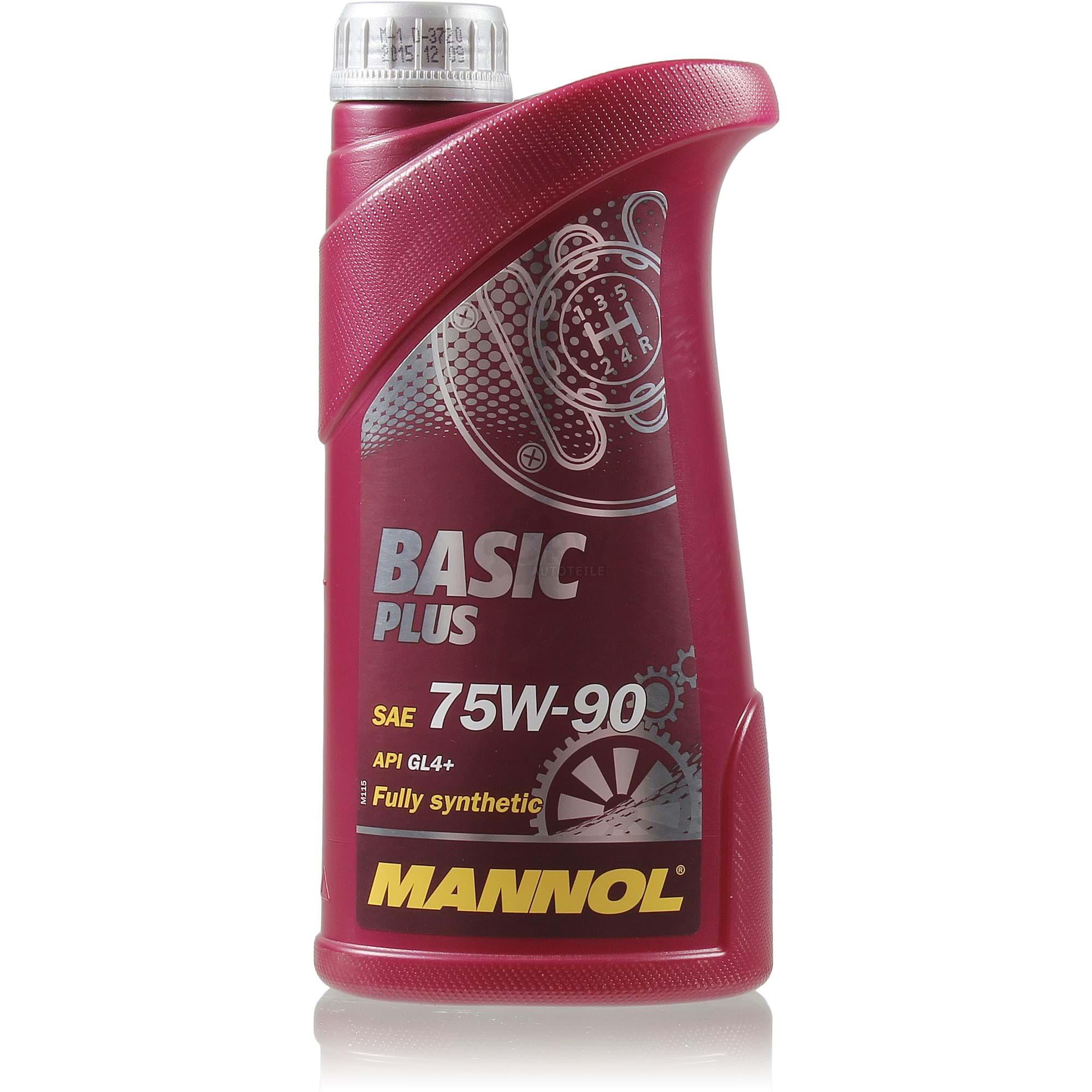 MANNOL Трансмиссионное масло МКПП Basik Plus SAE 75w90 4л Full-synthetic