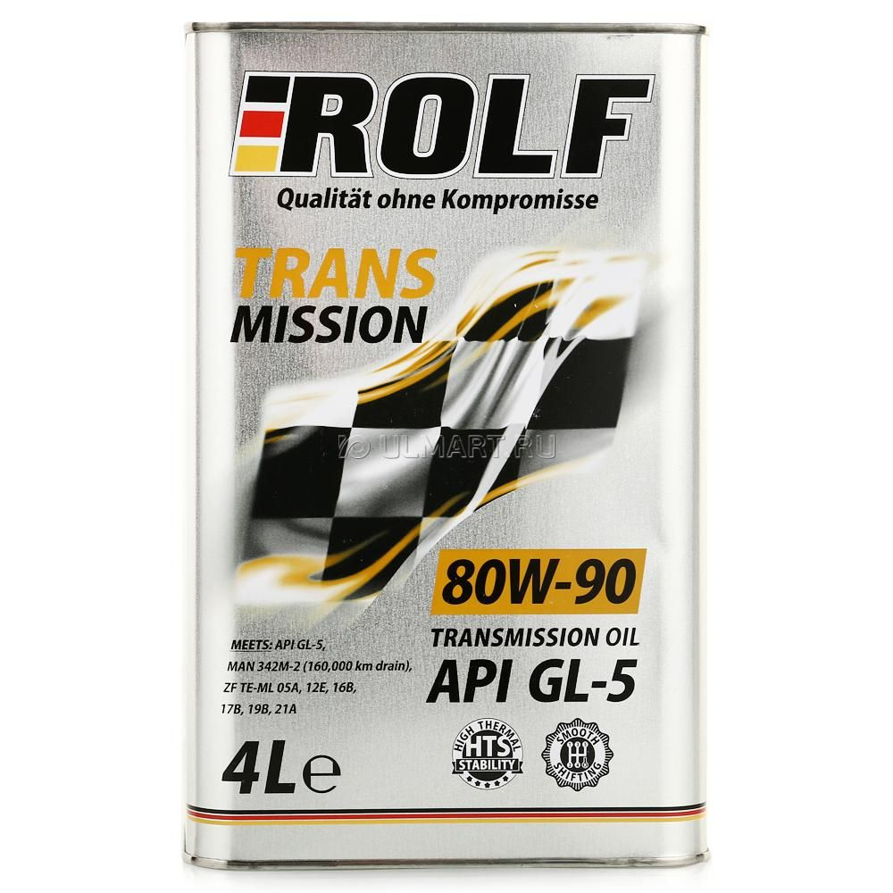 ROLF Трансмиссионное масло МКПП SAE 80w90 4л Mineral oil