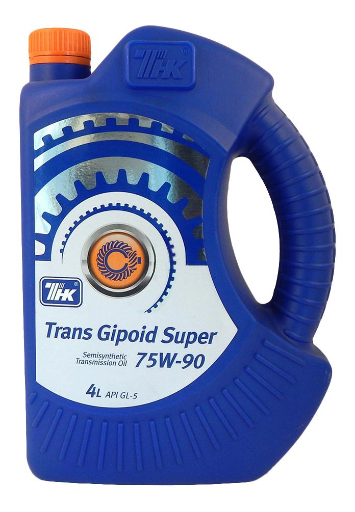 ТНК Трансмиссионное масло МКПП Trans Gipoid Super SAE 75w90 4л Semi-synthetic