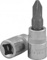 JONNESWAY Насадка торцевая 1/4″DR с вставкой-битой крестовой, РН2, 37 мм