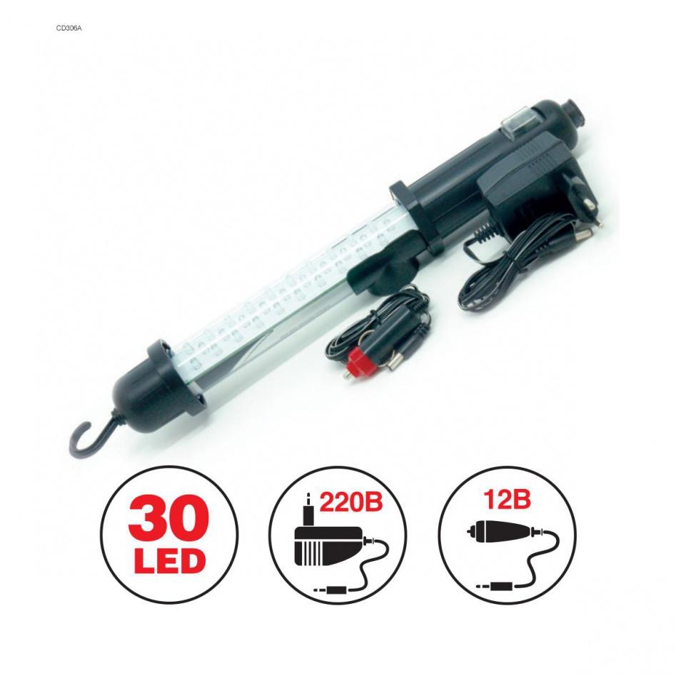AVS Переносной светильник 30LED 220V / 12V (акб)