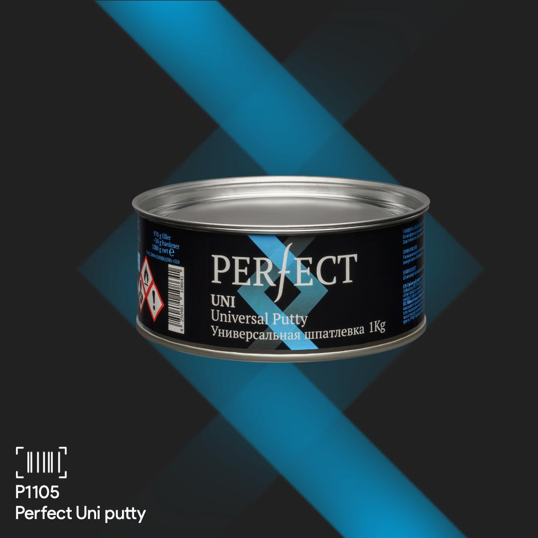 PERFECT Шпатлевка Uni Putty 1,0 кг + отвердитель 0,03 гр
