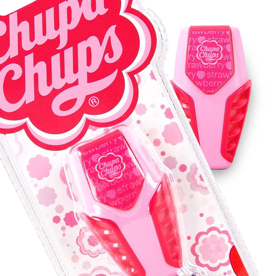 CHUPA CHUPS Ароматизатор на дефлектор гелевый  3мл Клубника со сливками