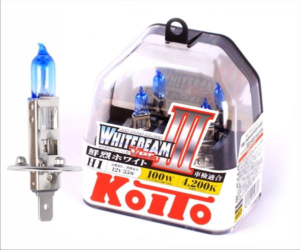 KOITO Лампа высокотемпературная H1 12V 55W (100W) Whitebeam бокс, 2 шт.