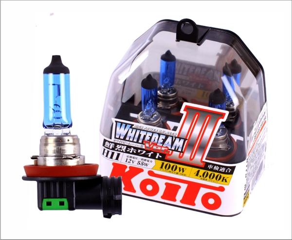 KOITO Лампа высокотемпературная H11 12V 55W (100W)  Whitebeam бокс, 2 шт.