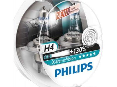 PHILIPS Лампа автомобильная галогенная H4 12V 60/55W X-treme Vision 3700K бокс, 2 шт.
