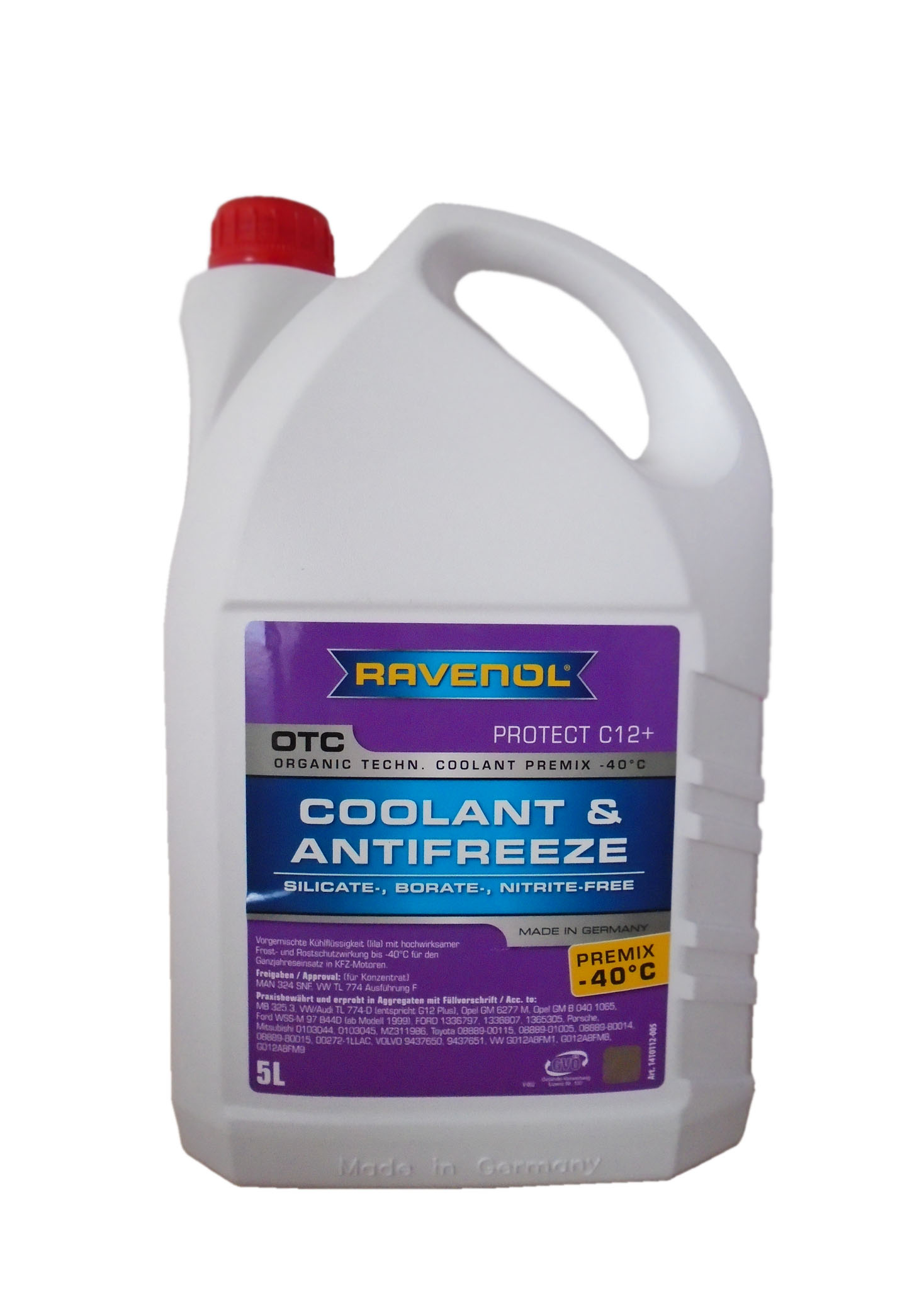 RAVENOL Антифриз Premix OTC Organic Technology Coolant -40С G12 красный 5л